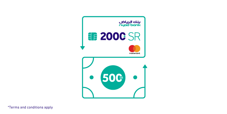 Spend +2000 SR and get 500 SR cash back with MasterCard offer for the top 300 spenders