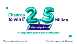 Chances to win up to 2,5 Million Hassad points